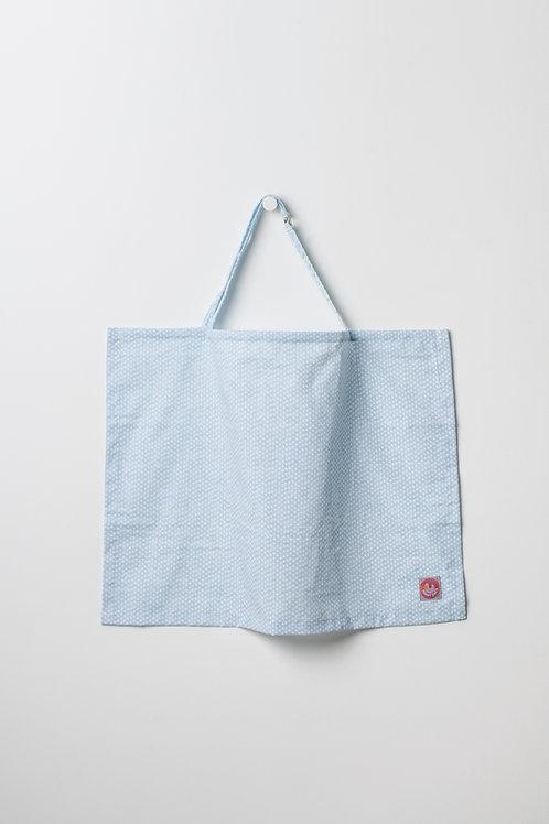 Avental de Amamentacao Azul Bolinhas
