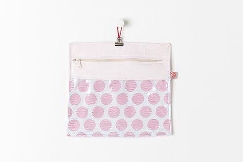 Bolsa Transparente Bolas Rosa