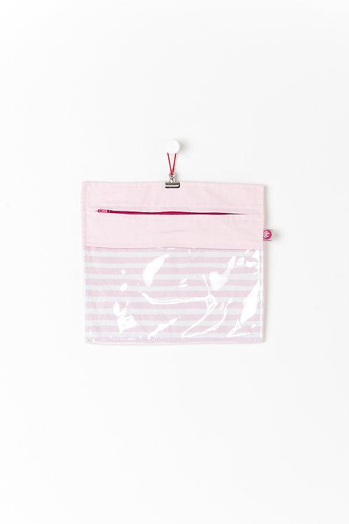 Bolsa Transparente Rosa