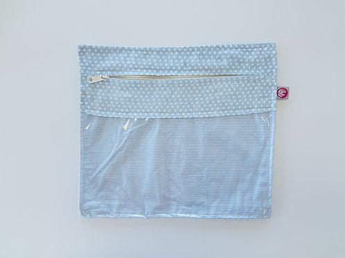 Bolsa Transparente Bolas Azul