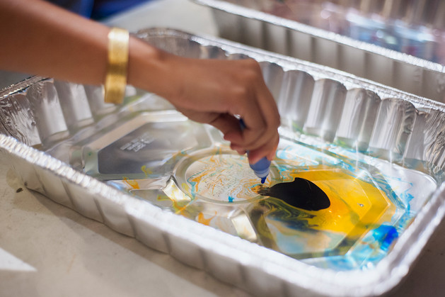 CMC's paper marbling workshop