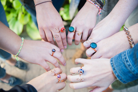 Wire Wrapped ring workshop with Claire La Marguerite