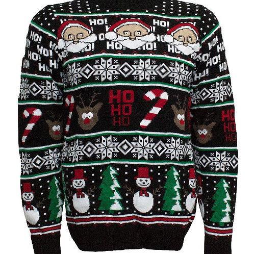 Santa, Reindeer, Snowman Happy Holidays Jumper