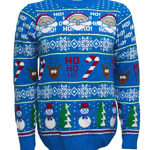 Santa, Reindeer, Snowman Happy Holidays Jumper