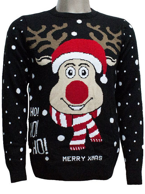 The Christmas Reindeer HO HO HO Jumper