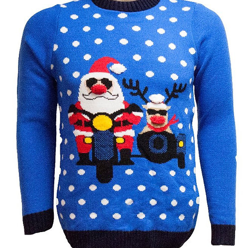3D Santa and Rudolph Christmas Jumper