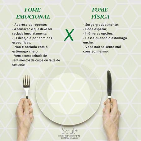 Fome Emocional X Fome física