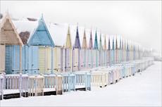 Beach Huts in the Snow, Mersea Island