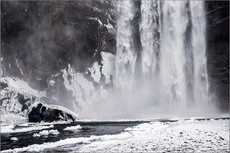 Skogafoss, Winter