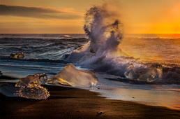 Jokulsarlon Beach Sunrise
