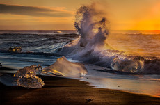 Jokulsarlon Beach Sunrise