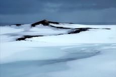 Snowfield, South Iceland