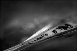 Spotlit Mountain