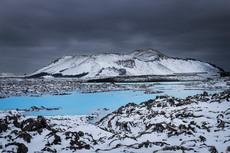 Snowscape. Reykjanes