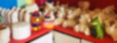Heavenly Glaze Red Shelf Party Shelf
