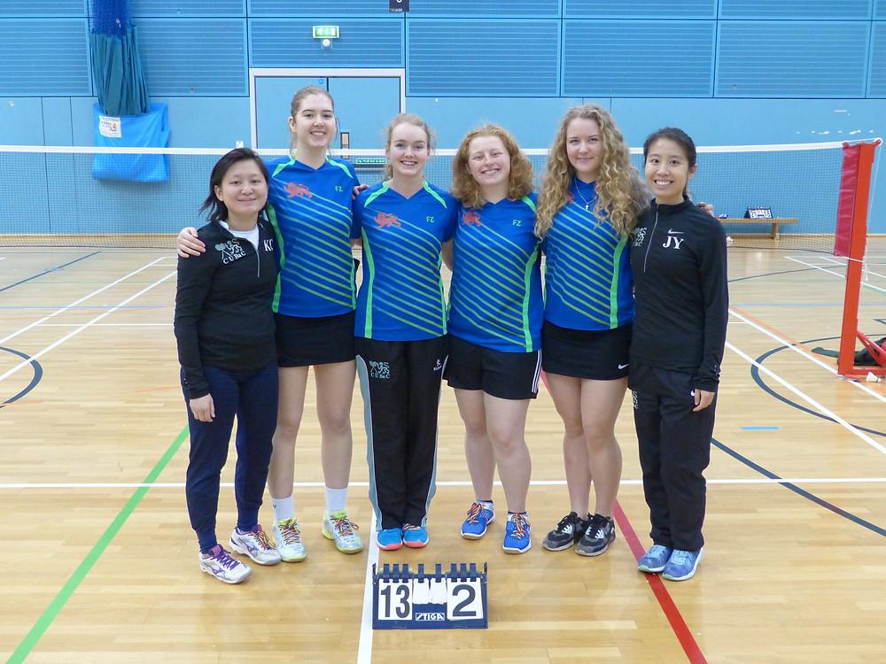 W2: L-R - Kim Chan, Felicity Coan, Helen Brigs, Katie Clark, Maria Chukanova, Jean Yang. Not pictured: Amy Chen