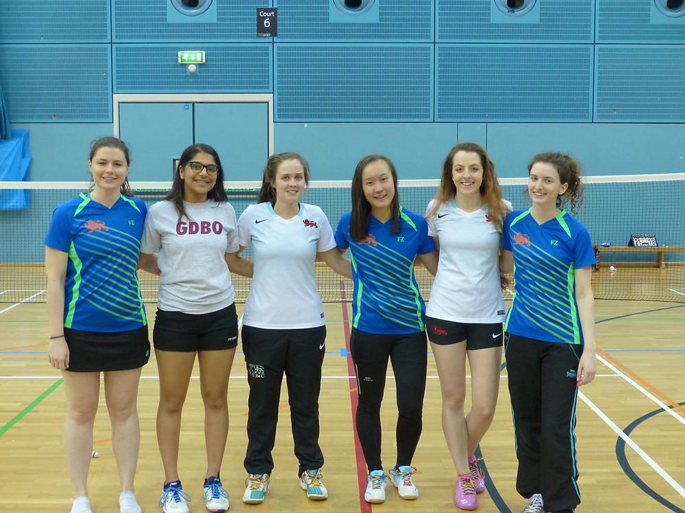 W1: L-R - Rachel Fenner, Neha Madhotra, Steph Potten, Sylvia Ma, Briony Whitfield, Becky Donaldson