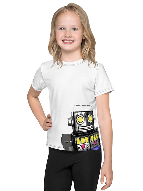 Kids Tin Toy Robot T-Shirt