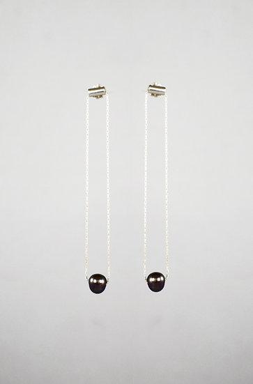 Modern Pearl Drop Earring