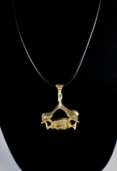 14K Gold-Plated Bronze Human Vertebrae