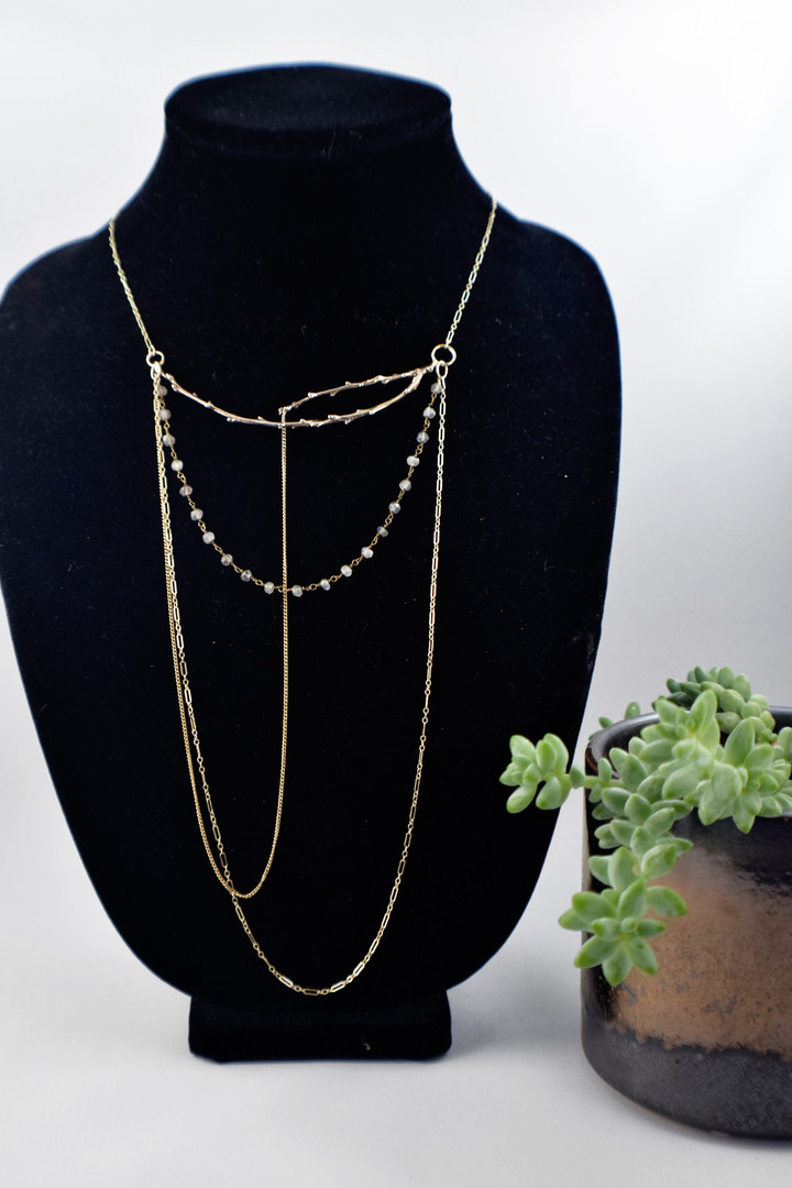 Layered Branch Necklace