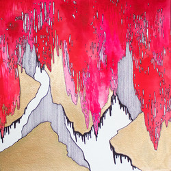 Abstract in Pink