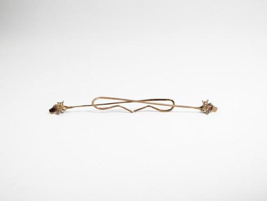 Snake Vertebrae Straight Dangle Bronze
