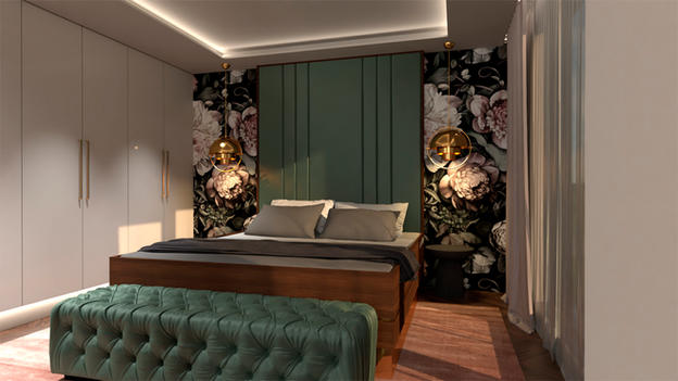 Master bedroom flower