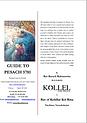 Rav Rubanowitz's Pesach Guide 5781 - KYS