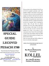 Rav Rubanowitz's LeCovid Pesach Guide 57