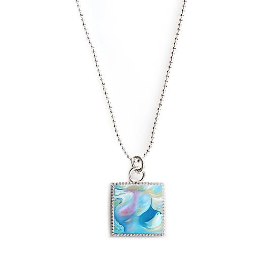 Sterling Silver Square Necklace - Intercessor
