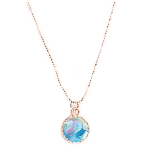 Rose Gold Round Necklace - Intercessor