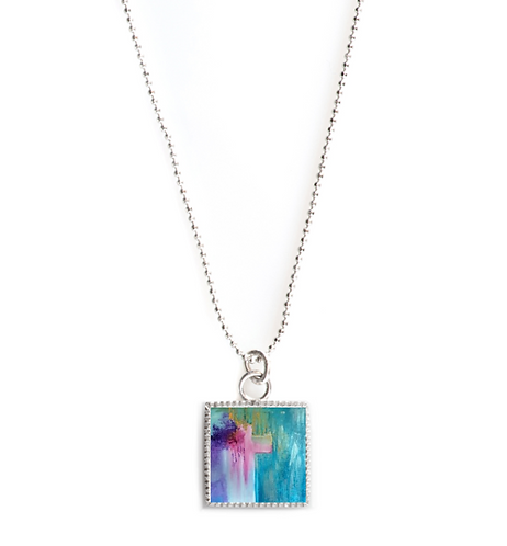 Sterling Silver Square Necklace - Ministry of Reconcilliation