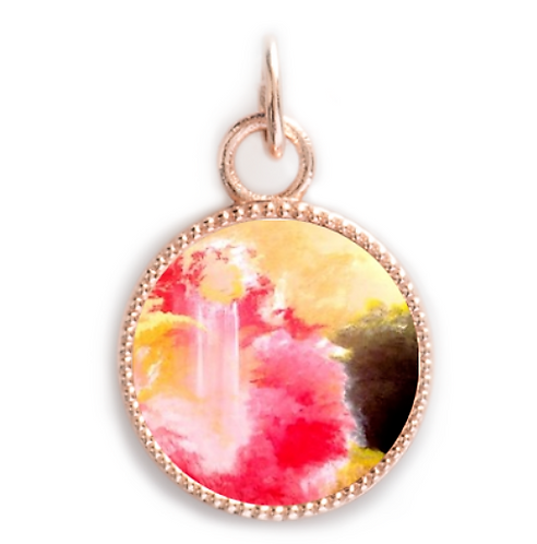 Rose Gold Round Pendant - Joy of the Lord