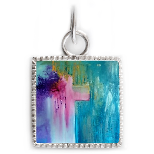 Sterling Silver Square Pendant - Ministry of Reconciliation