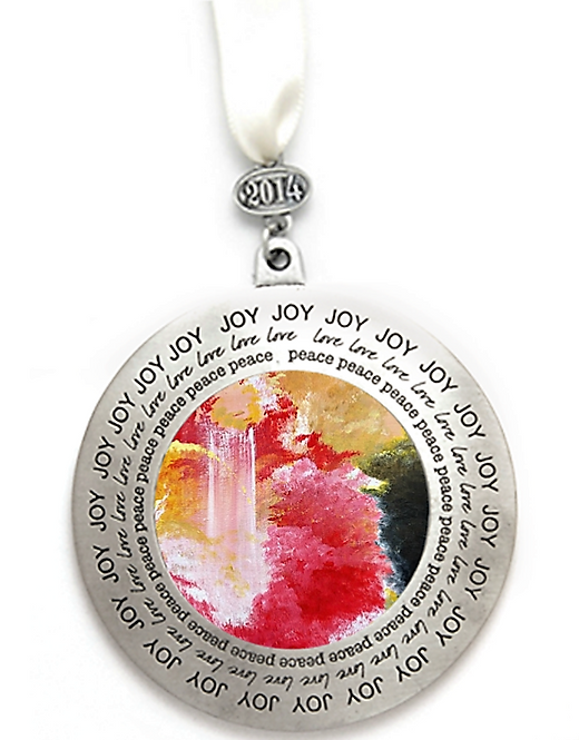 JOY OF THE LORD PEWTER CHRISTMAS ORNAMENT