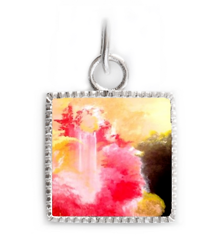 Sterling Silver Square Pendant - Joy of the Lord