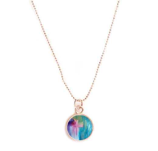 Rose Gold Round Necklace - Ministry of Reconciliation
