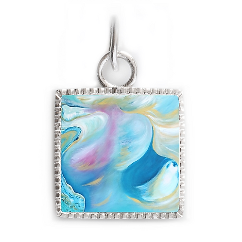 Sterling Silver Square Pendant - Intercessor