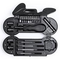 motorbike shaped tool set, motorcycle shaped tool kit, brandable tool set, promotional tool set, printed tool set, custom tool set, promotional tool set, motorbike merchadise