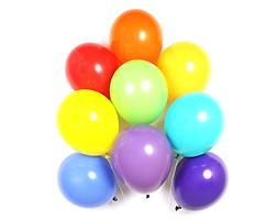 custom printed balloons, promotional balloons, rainbow coloured balloons, pride balloons, festival balloons