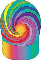 spirocap, promotional card cap, custom printed card cap, spiral cap, pride cap,