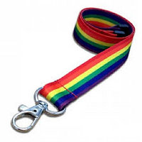 promotional lanyards, custom printed lanyards, lanyards, pride lanyards, rainbow lanyards, multi coloured lanyards, pride, festival lanyards
