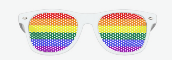promotional sunglasses, custom printed sunglasses, rainbow sunglasses, pride sunglasses, festival sunglasses
