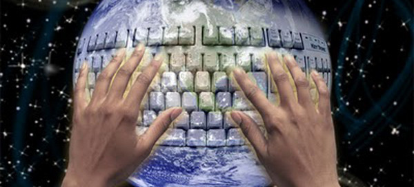 Blogosfera. Informação interligada. Foto retirada da internet.