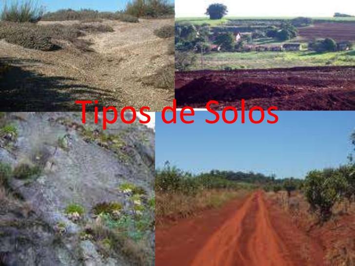 Imagem de tipos de solos. Retirada da internet.