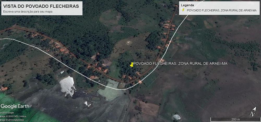 Imagem de satélite do povoado Flecheiras