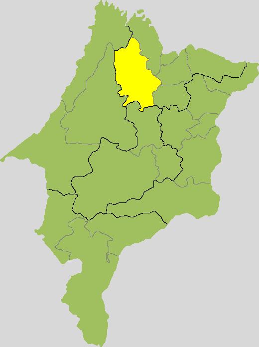 Mapa do Maranhão, destacando a microrregião da Baixada. Imagem da internet.