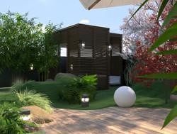 Garden relaxation area