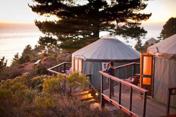 Ocean View Yurt in Big Sur